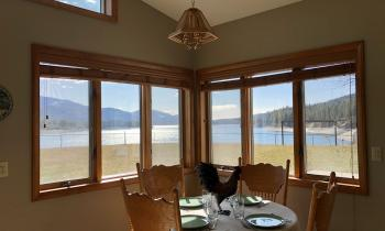 Kitchen Table VIEW at Lakeview house