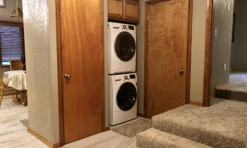 Laundry facilities at Lakeview house